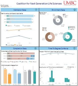 Thumbnail view of the PhD Statistics Dashboard hosted on Tableau