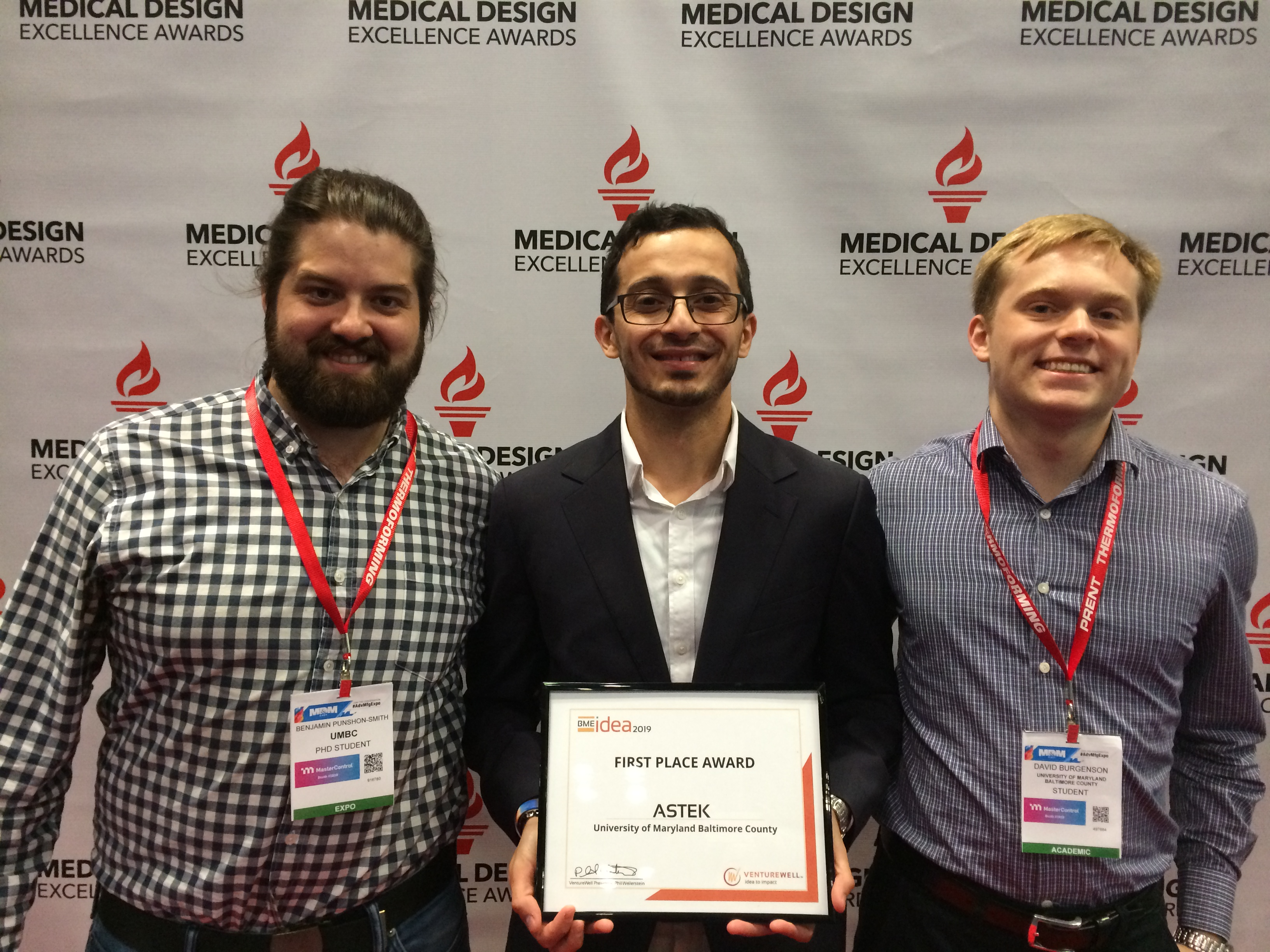 UMBC graduate students take top prize at BMEidea competition
