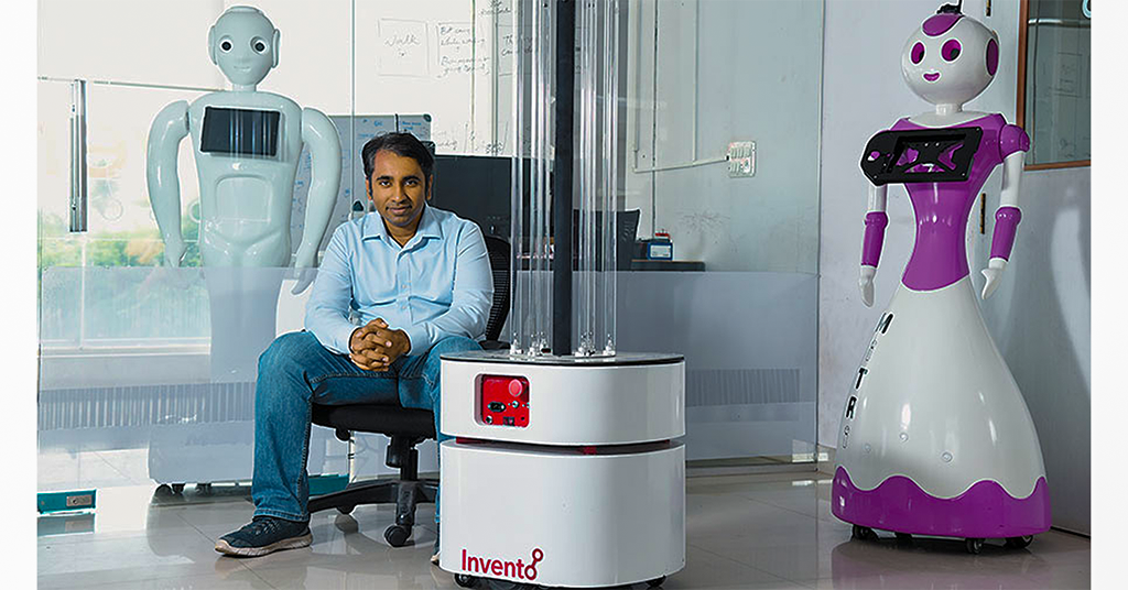 Invento Robotics CEO Balaji Vishwanathan, M.S. '07, profiled in Forbes India